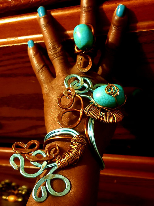 Baby Blue Bracelet and Ring Set