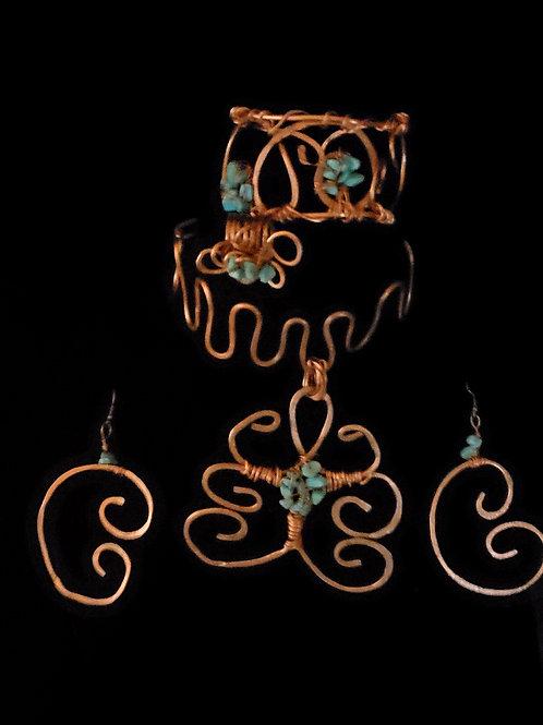 Copper & Turquoise Egyptian Set