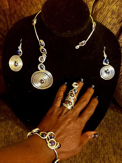 Iridescent Silver Set