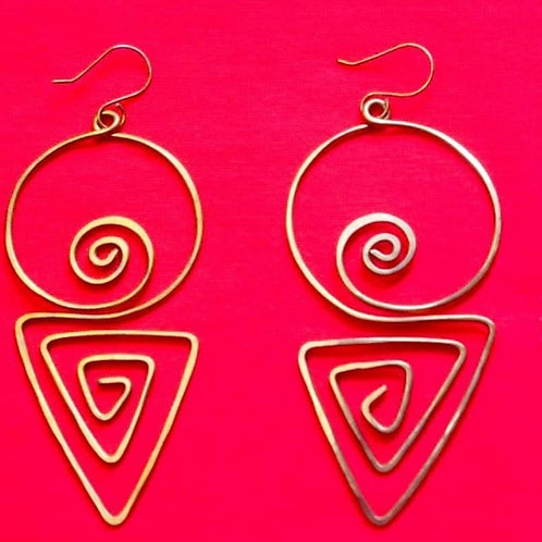 Retro Copper Earrings