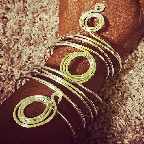 Triple Swirl Silver Bracelet
