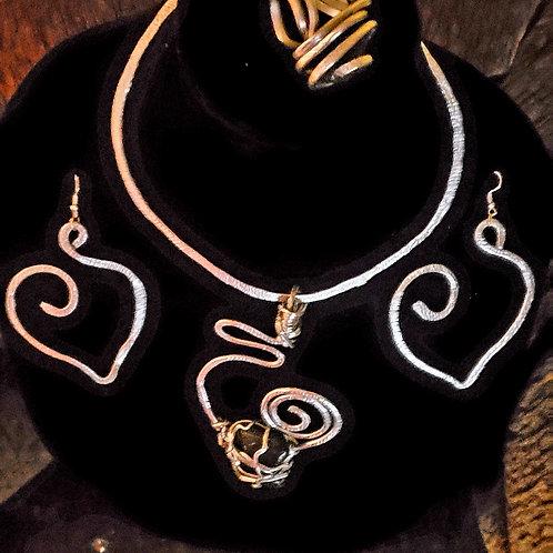 Open Heart Silver Set
