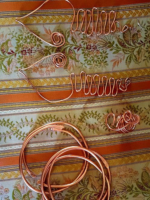 Beautiful Copper Earring Set