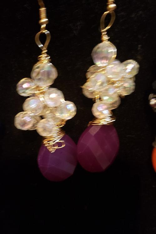 Vine Earrings w/stones