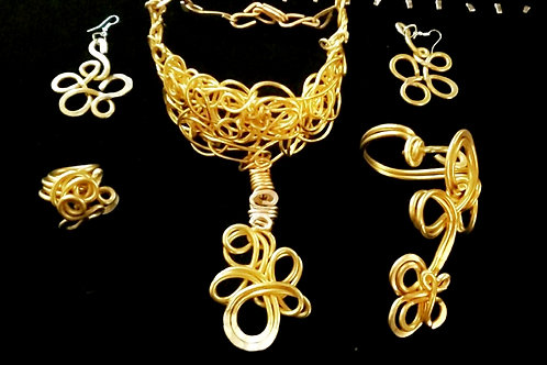 Yellow Branch Necklace Set