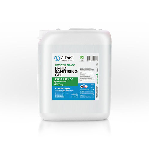 Hospital Grade - 5L Hand Sanitising Gel Jerry Can (Extra Strong)