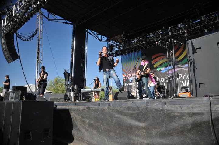 Matt performing