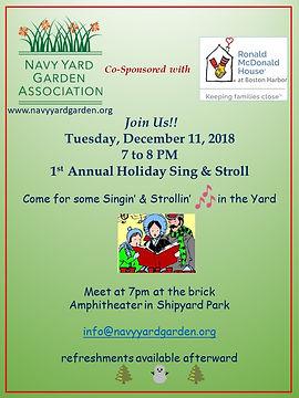 Navy Yard Garden Association Sing Along