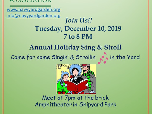 December 10, 2019  2nd Annual Sing & Stroll