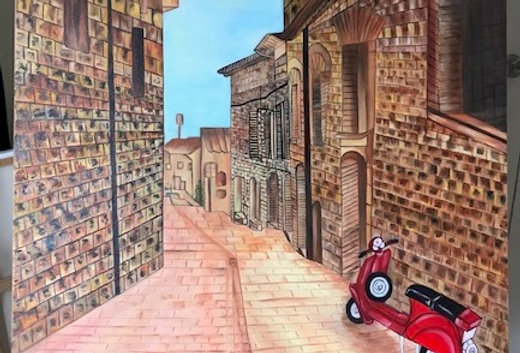 Street view of Italy