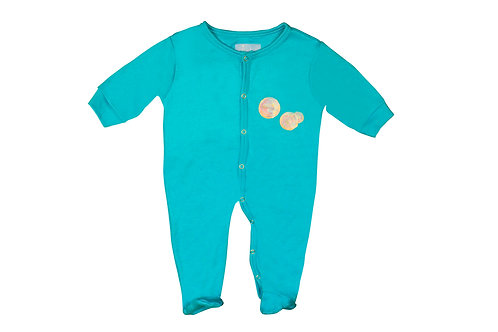 Let's blow bubbles blue romper