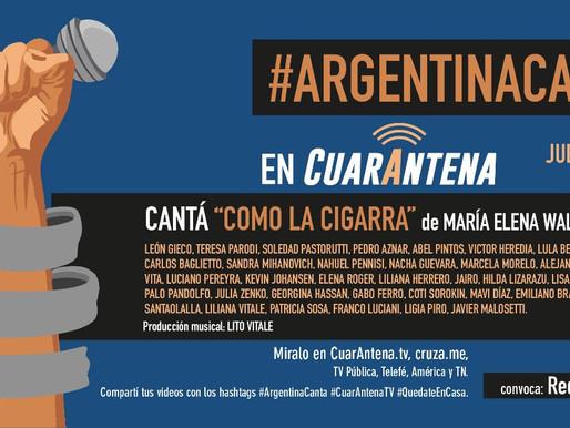 Trabajamos en la difusión en medios de #ArgentinaCanta