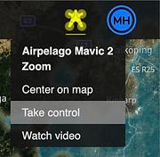 Take control of the drone in DMC Mobile Web