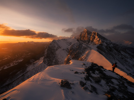 A Winter Sunrise at Ha Ling Peak