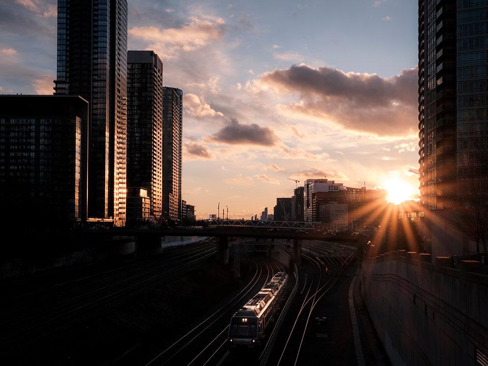 Go train sunset .jpg