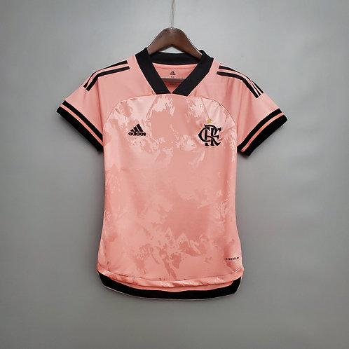 Camisa Feminina - Flamengo 20/21 Rosa