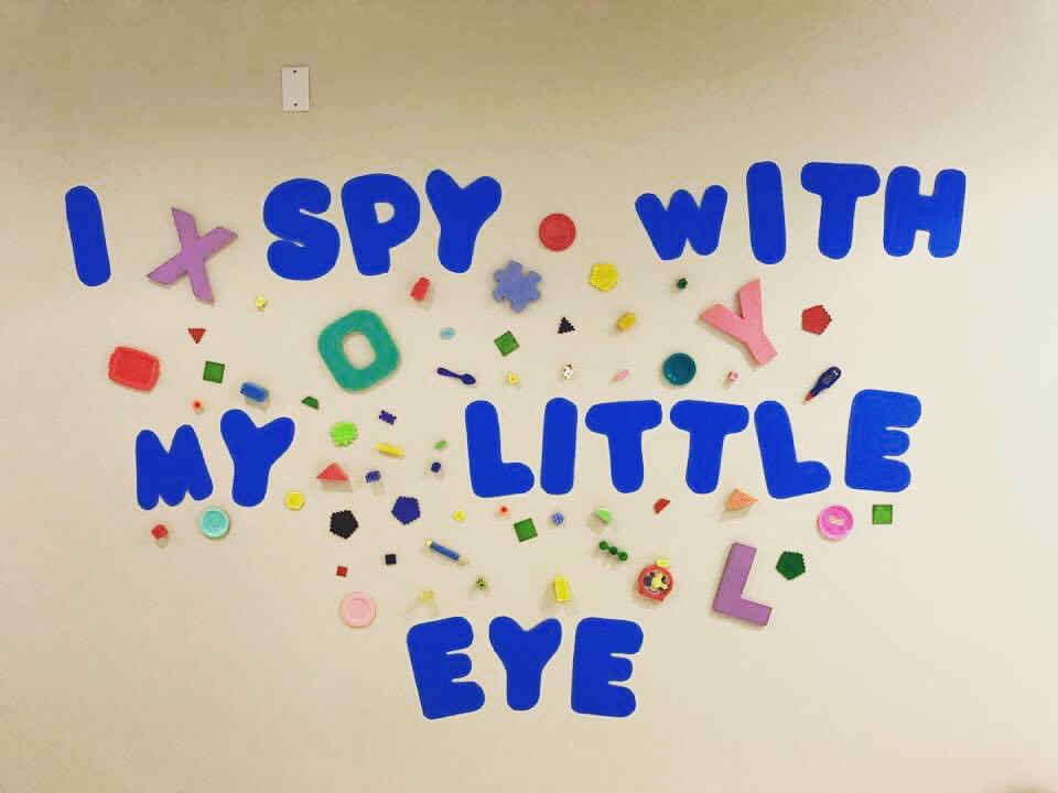 Hallway Eye Spy Wall