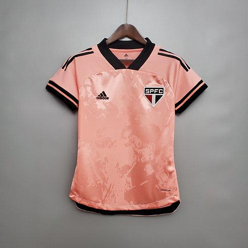 Camisa Feminina - São Paulo 20/21 Rosa