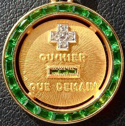 '+ QU'HIER - QUE DEMAIN ' THE 60'S CHARM PENDANT SIGNED A.AUGIS