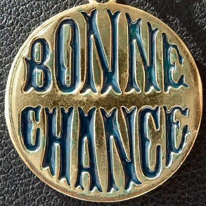 VINTAGE LUCKY ' BONNE CHANCE ' CHARM / PENDANT