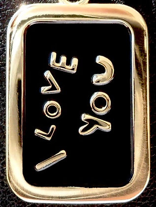 VINTAGE 'I LOVE YOU ' THE 80'S CHARM PENDANT
