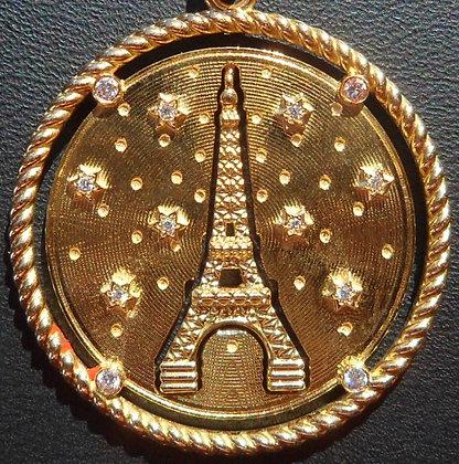 RARE VINTAGE FRENCH 'TOUR EIFFEL ' 90'S CHARM PENDANT
