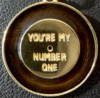VINTAGE ' YOU ARE MY NUMBER ONE ' CHARM PENDANT, THE 70S