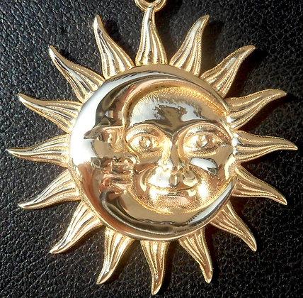 VINTAGE ' SUN & MOON ' THE 70'S CHARM PENDANT
