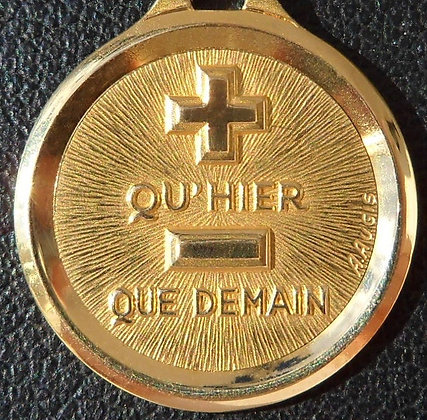 VINTAGE '+ QU'HIER - QUE DEMAIN ' THE 90'S CHARM PENDANT SIGNED A.AUGIS