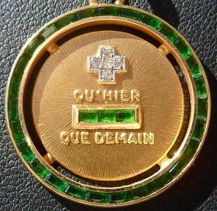 '+ QU'+ QU'HIER - QUE DEMAIN ' THE 60'S CHARM PENDANT SIGNED A.AUGIS