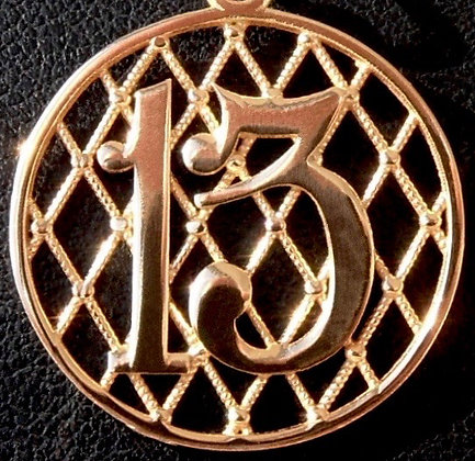 VINTAGE LUCKY 13 CHARM PENDANT, THE 70'S