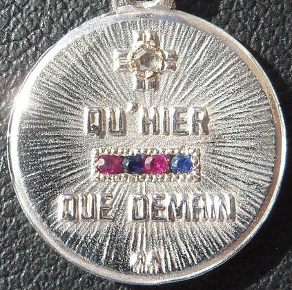 '+ QU'HIER - QUE DEMAIN ' THE 50'S CHARM PENDANT SIGNED A.AUGIS