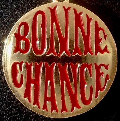 VINTAGE ' BONNE CHANCE ' THE 90'S CHARM PENDANT
