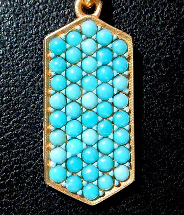 VINTAGE FRENCH ' TURQUOISES ' THE 90s CHARM PENDANT