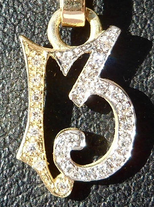 LUCKY NUMBER 13 CHARMPENDANT