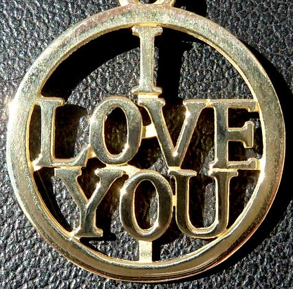 VINTAGE FRENCH ' I LOVE YOU ' LOVE CHARM / PENDANT