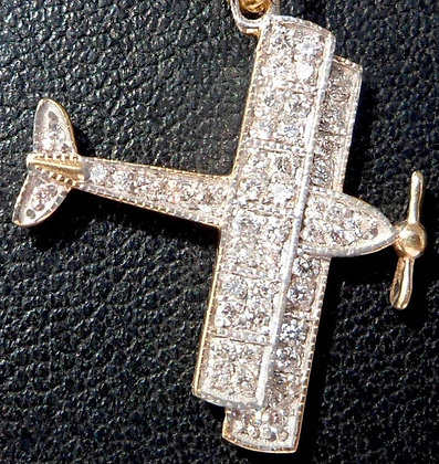 VINTAGE FRENCH ' PARADISE PLANE ' THE 80s CHARM PENDANT
