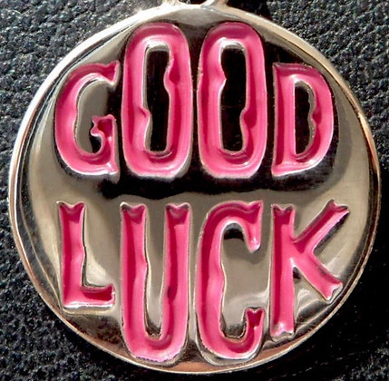 VINTAGE LUCKY ' GOOD LUCK ' CHARM / PENDANT
