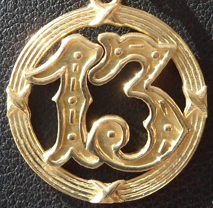 VINTAGE LUCKY CHARM / PENDANT NUMBER 13