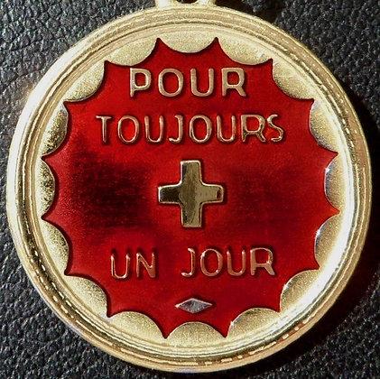 VINTAGE FRENCH ' POUR TOUJOURS + UN JOUR ' THE 60'S CHARM PENDANT