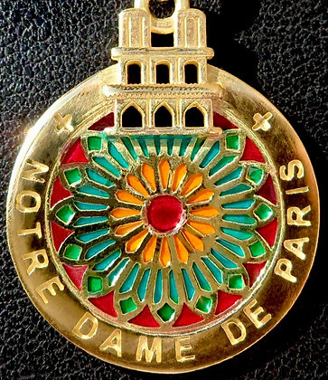 VINTAGE FRENCH ' NOTRE DAME ' 90'S CHARM PENDANT