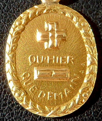 VINTAGE '+ QU'HIER - QUE DEMAIN ' THE 60'S CHARM PENDANT SIGNED A.AUGIS