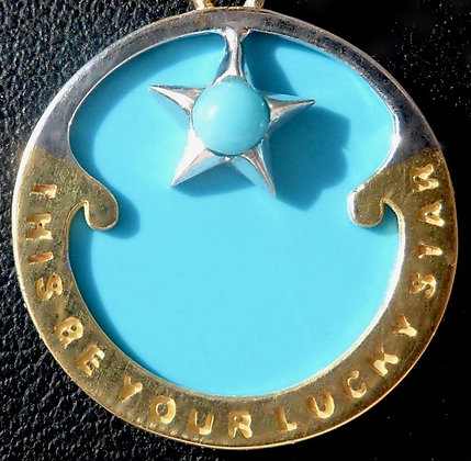 MOTHER OF TURQUOISE ' LUCKY STAR ' CHARM SIGNED RIPP