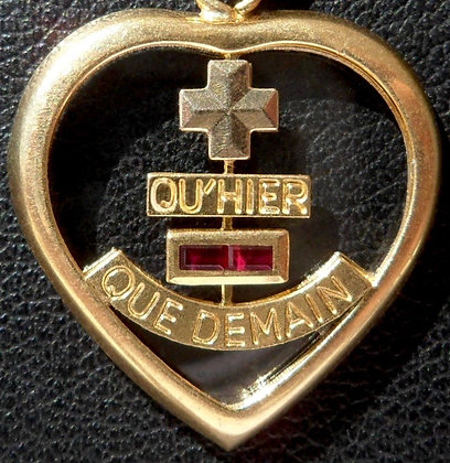 RARE '+ QU'HIER - QUE DEMAIN ' THE 80'S CHARM PENDANT SIGNED A.AUGIS