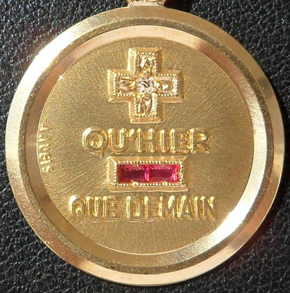 VINTAGE FRENCH '+ QU'HIER - QUE DEMAIN ' THE 60S CHARM PENDANT, SIGNED A