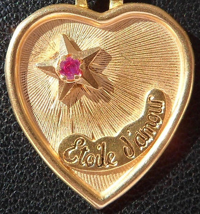 VINTAGE 'ETOILE D'AMOUR ' THE 60'S CHARM PENDANT SIGNED ETOILE D'AMOUR