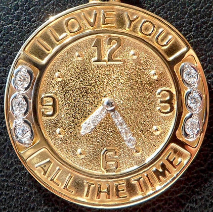 VINTAGE ' I LOVE YOU ALL THE TIME ' LOVE CHARM / PENDANT
