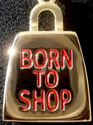 VINTAGE BORN TO SHOP BAG THE 90'S CHARM PENDANT