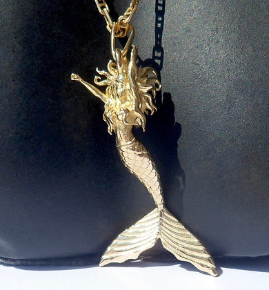 VINTAGE FRENCH ' MERMAID ' THE 90'S CHARM PENDANT