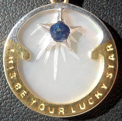 MOTHER OF PEARL' LUCKY STAR ' CHARM SIGNED RIPP